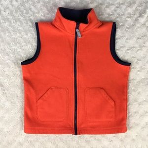 Carter's Orange Fleece Vest Blue Size 5T